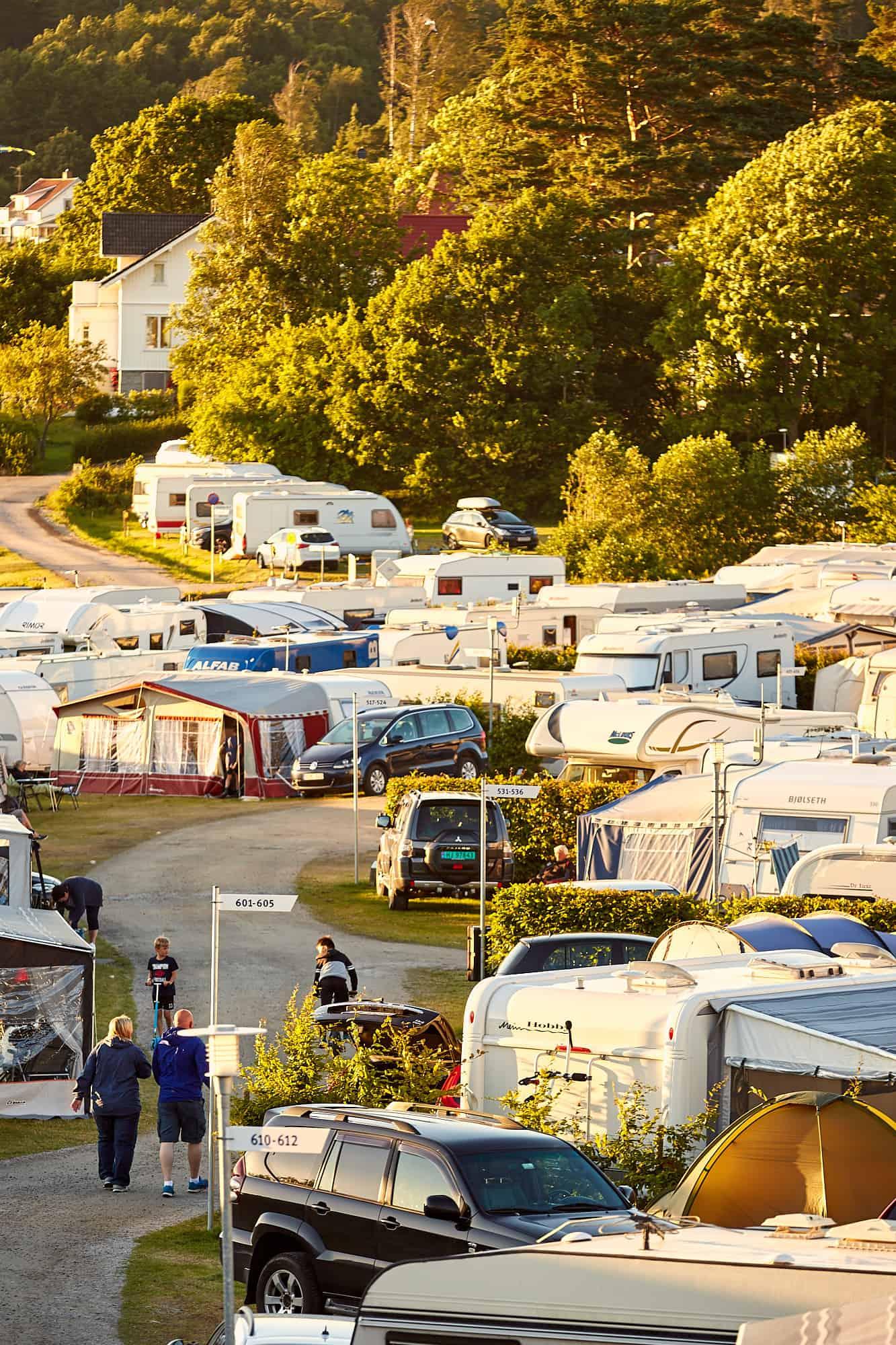 Överblick över campingen.