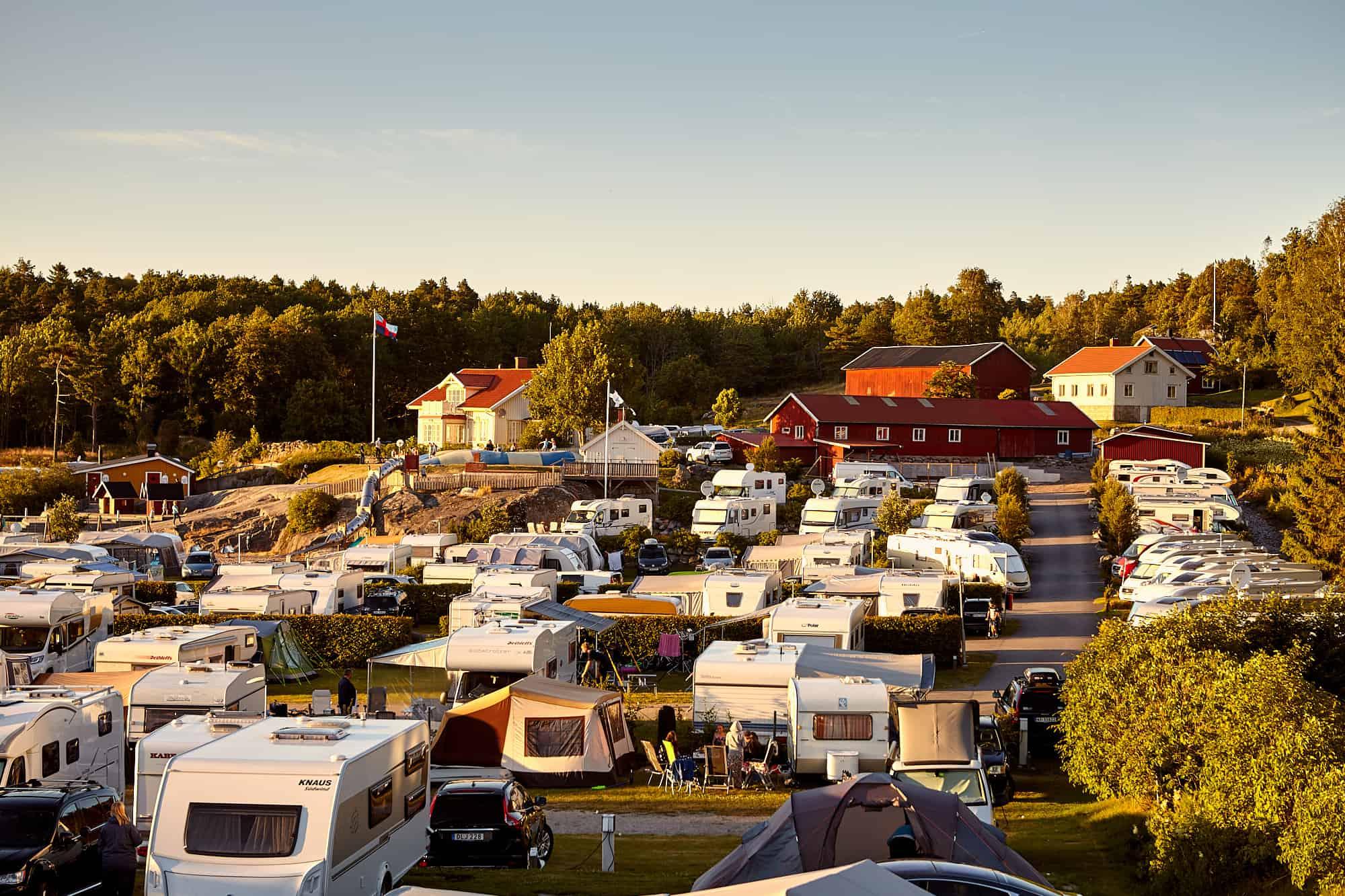 Överblick över Lagunen Camping som ligger i närheten av Strömstad.